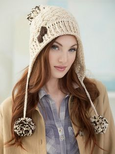 Hats with Ties & Earflaps can add a fun and whimsical touch to any hat.