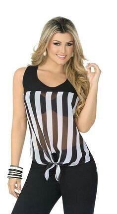 Blusa a rayas - #bllusademujer #mujer #blusa #Blouse