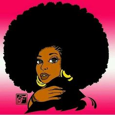 I'm real tough in my Afro puff Black Love Art, Black Girl Art, Black Is Beautiful, Black Girl Magic, Art Girl, Natural Hair Art, Natural Hair Styles, Black Power Desenho, Pelo Afro