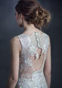 vestido de noiva claire pettibone gothic angel eden com costas em renda #casarcomgosto