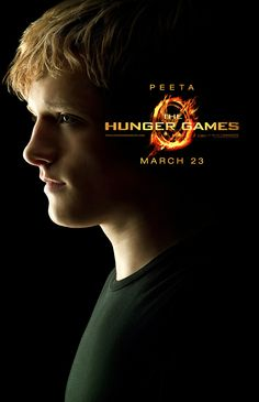 "Peeta Mellark played by Josh Hutcherson!! "" The Boy with the Bread"" The Hunger Games movie poster!! <3"