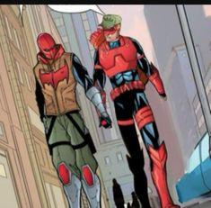 Jason X, Red Hood Jason Todd, Red Arrow Dc, Redhood And The Outlaws, Roy Harper, Arte Dc Comics, Gotham Batman, Dc Memes, Wonder Woman