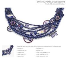 Dark Lapis Pearl Swarovski Gem Colors Combinations for DIY Spring and Summer Jewelry ideas