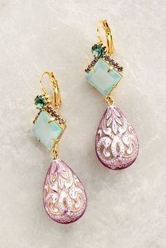 Elizabeth Cole Swirled Drop Earrings #anthrofave