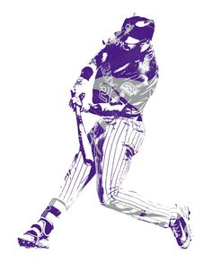 David Dahl Colorado Rockies Pixel Art 1 Art Print by Joe Hamilton. All prints are professionally printed, packaged, and shipped within 3 - 4 business days. Baseball Painting, Joe Hamilton, Rockies Baseball, Thing 1, Colorado Rockies, Dahl, All Art, Pixel Art, Fine Art America