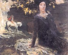 Jan Preissler - Žena a jezdec u Černého jezera (1903 - 1904)