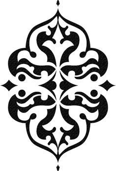 Stencils of flourishes, decorative borders and corner designs for artists, mixed media crafters, fiber arts, classrooms and DIY home decor projects. Stencils, Stencil Diy, Stencil Painting, Sign Painting, Stencil Patterns, Stencil Designs, Islamic Pattern, Scrapbook, Diy Home Decor Projects