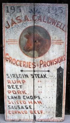 Folk Art Trade Sign