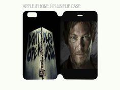iPhone 6 Plus Flip Case Cover Don't Open Dead Inside Daryl Dixon Walking Dead #QuinnCafe