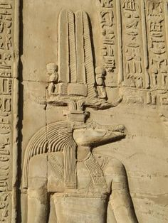 Relief Carving of the Crocodile Headed God, Sobek, Kom Ombo Temple, Egypt History Of Wine, Mystery Of History, Ancient Egypt, Ancient History, Kemet Egypt, Egyptian Art, Egyptian Things, Crocodile, God