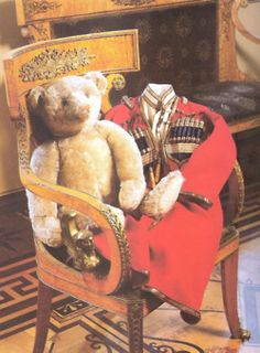 The Tsarevich's teddy bear and small Cossack uniform are today on display in the Palace of Pavlovsk.