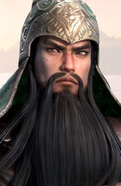 Guan yu sworn brother of Liu bei and zhang fei and known for his long beard