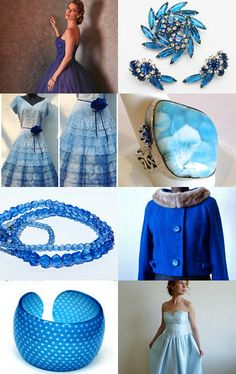 Blue and Pink Spring - Love of Vintage by Rosanne on Etsy--Pinned with TreasuryPin.com