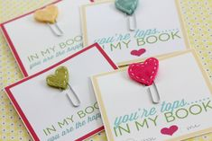 Homemade Valentine Cards: Stitched Heart Bookmarks