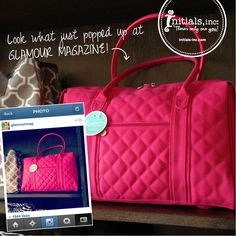 Glamour Magazine loves Initials, Inc. Get your city tote by emailing me at hafner4@ncool.net