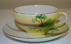 Tea Cup and Saucer CHIKARAMACHI China Hand Painted Japan | Antiques, Decorative Arts, Ceramics & Porcelain | eBay!