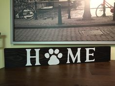 Handmade Custom Wood Paw Print Home Sign Rustic Homemade Pallet Hand