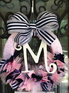 Baby Ribbon Wreath, Nursery, Hospital Door, Baby Shower