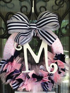 Baby Ribbon Wreath, Nursery, Hospital Door, Baby Shower