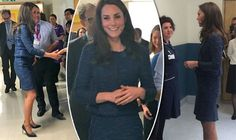 Kate Middleton wears sombre navy to meet survivors of London Bridge attack in hospital
