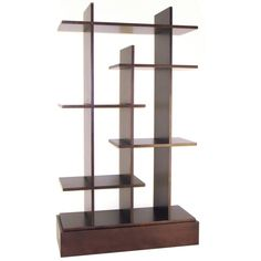 Awesome Espresso Finished Wood Shelving Unit Idea with Cool Shelving Design in Rectangular Base Perfect for Display Shelf Cube Bookcase, Cube Shelves, Wall Bookshelves, Wall Mounted Shelves, Display Shelves, Bookcases, Bookshelf Ideas, Room Shelves, Glass Shelves