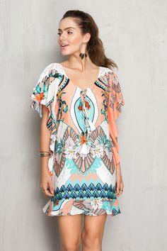 Vestido estampado tropical   Dress to
