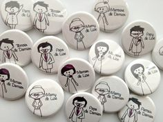badges mariage témoin, parents