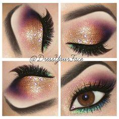 Colorful Sunset Glitter Eyes !!!!