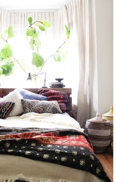 Moon to Moon: One Room: Bright relaxing bohemian bedroom..