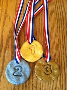 Make your own Olympic medals, perfect olympic craft for kids