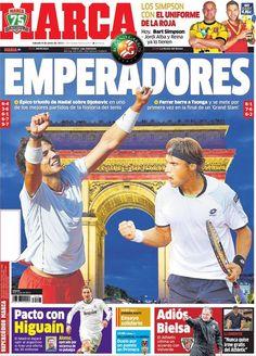 Los Titulares y Portadas de Noticias Destacadas Españolas del 8 de Junio de 2013 del Diario Deportivo MARCA ¿Que le parecio esta Portada de este Diario Español?