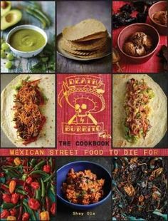 Collects recipes for Mexican street food and cocktails, including chipotle chicken wings, sea bream ceviche, beef short rib and sweet potato burritos, and pink paloma. Color: Pink.