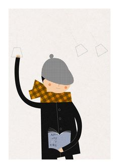Morning train boy print by 1100illustrations on Etsy, $30.00