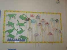 Summertime art projects for kids: paper frogs and coffee filter jellyfish