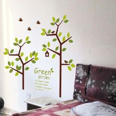 Trees living room sticker Kids Room mural Wall Decor Decals Removable Stickers