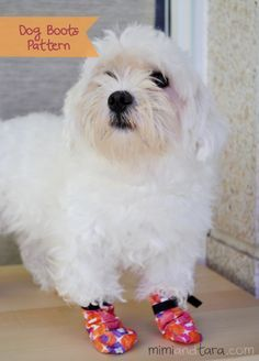Download here free Dog boots patterns in PDF format to sew a soft boots to protect pet's paws against rain, cold and harsh ground but also lets him move freely