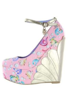 Iron-Fist-Ladies-NIB-Pink-Mermaid-Platform-Wedge-Lorelei-Lollipop-Vegan-Shoe