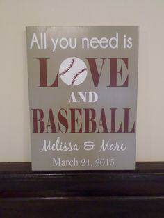 All You Need Is Love and Baseball, Personalized Baseball Wedding Gift, Anniversary Engagement Bridal Shower Gift, Baseball Sports Fan Gift Softball Wedding, Sports Wedding, Trendy Wedding, Baseball Wedding Shower, Wedding Fair, Spring Wedding, Dream Wedding, Wedding Signs, Wedding Ceremony