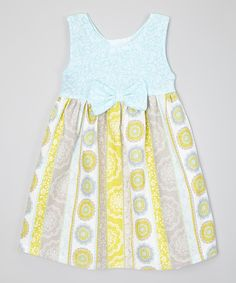 Loving this Carolina Kids Pastel Blue & Gray Floral Dress - Infant, Toddler & Girls on #zulily! #zulilyfinds