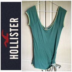Hollister Green/Lime Green Top With Side Tie M 🌟Price Reduced🌟 No Rips Or Stains, From Smoke & Pet Free Home Hollister Tops