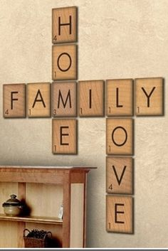 Exceptionnel As Someone Who Is ADDICTED To Scrabble.though I Play The Word Feud Version.  Giant Scrabble Letters Form Words For Wall Decor.