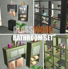 Mod The Sims - GlassWood Bathroom Set