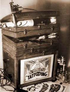 old tattooing setup