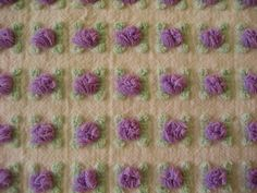 Vintage Chenille Bedspread Fabric Purple Rosebud Morgan Jones ...