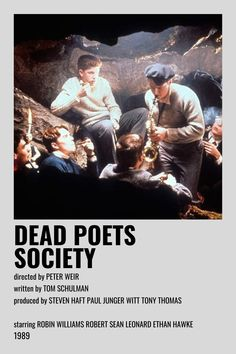 Iconic Movie Posters, Iconic Movies, Film Anime, Film Poster Design, Dead Poets Society, Movie Prints, Aesthetic Movies, Movie Covers, Alternative Movie Posters