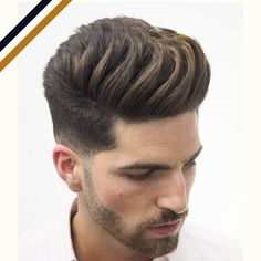 15 Quiff Hairstyles We Absolutely Love - Men's Hairstyles Mens Haircuts Round Face, Oblong Face Hairstyles, Quiff Hairstyles, Haircuts For Men, Short Hair For Boys, Short Hair With Beard, Hair And Beard Styles, Cool Hairstyles For Boys, Mens Hairstyles With Beard