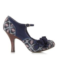 RUBY SHOO Ashley Flower Courts BLUE SUEDE