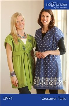 Crossover Tunic sewing pattern from Indygo Junction