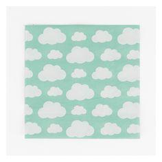 20 serviettes nuages