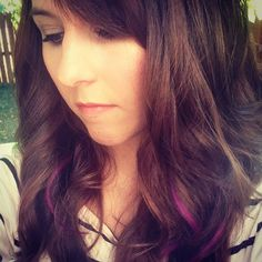 @Allyson Leigh-Sabatka , would this be what a purple color in my hair would probably look like?